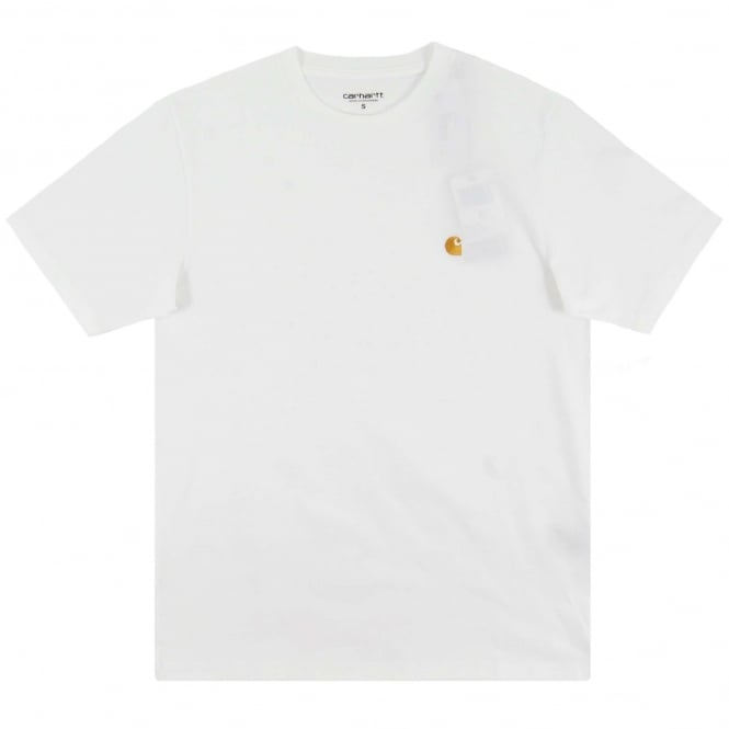 Carhartt Chase T-Shirt White Gold