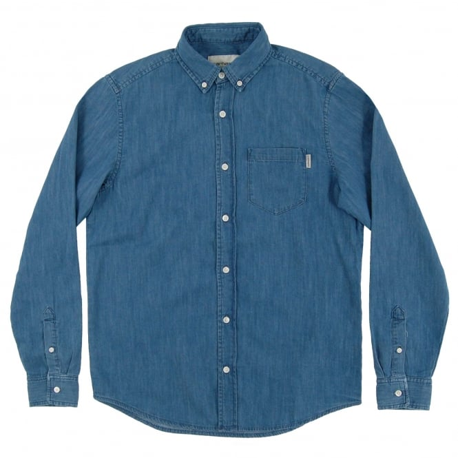 Carhartt Civil Denim Shirt Nashville Blue Stone Wash