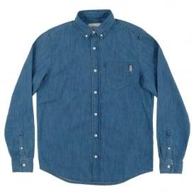 fcbcbe56 Civil Denim Shirt Nashville Blue Stone Wash