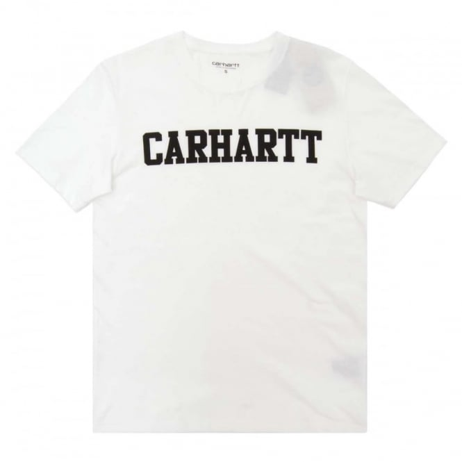 Carhartt College LT T-Shirt White Black