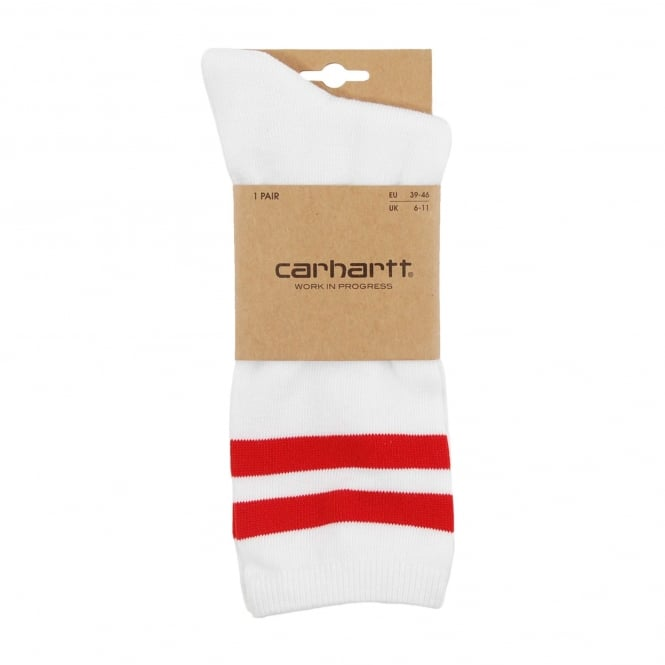 Carhartt College Socks White Chili