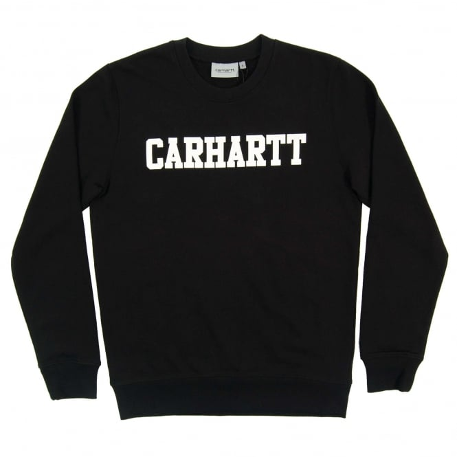 Carhartt College Sweatshirt Black White