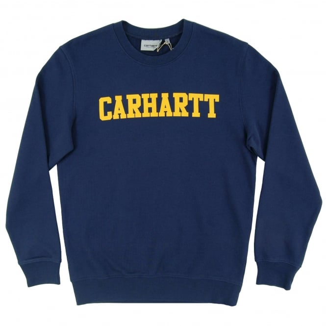 Carhartt College Sweatshirt Blue Yellow