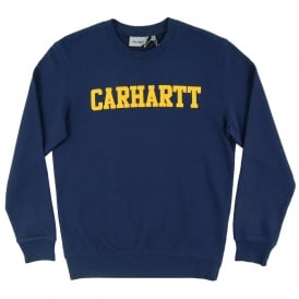 College Sweatshirt Blue Yellow