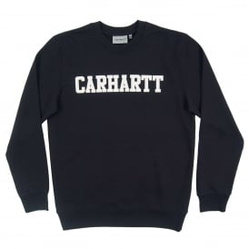 College Sweatshirt Dark Navy White