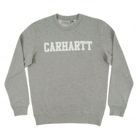 College Sweatshirt Grey Heather White