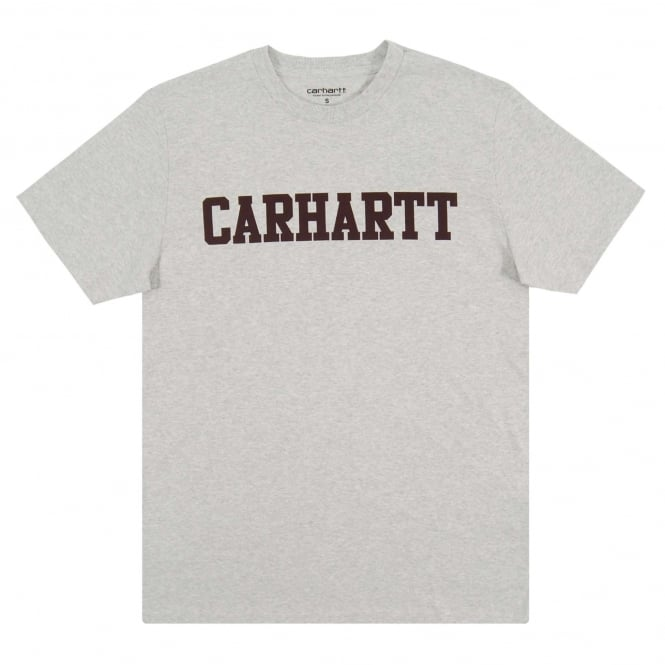 Carhartt College T-Shirt Ash Heather Damson