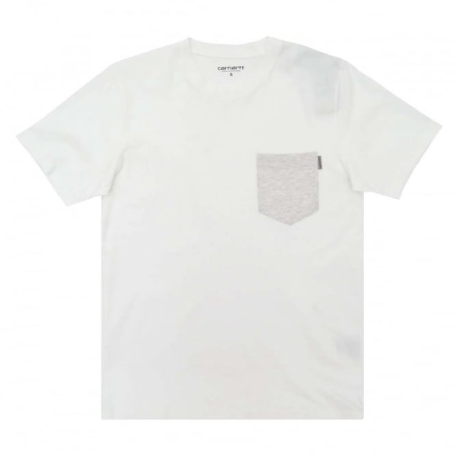 Carhartt Contrast Pocket T-Shirt White Ash Heather