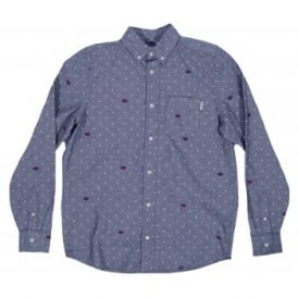 Crandall Shirt Heart Polka Duke Blue