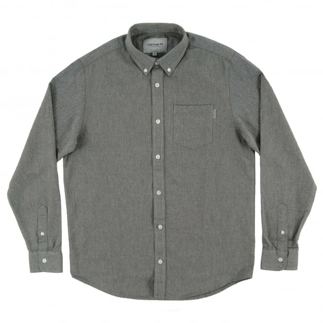 Carhartt Dalton Oxford Shirt Grey Heather Black