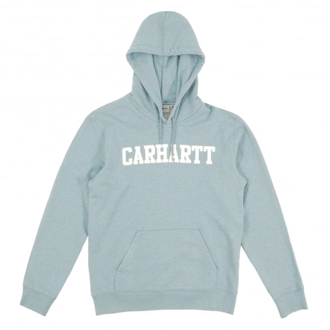 Carhartt Hooded College Sweat Dusty Blue Heather White