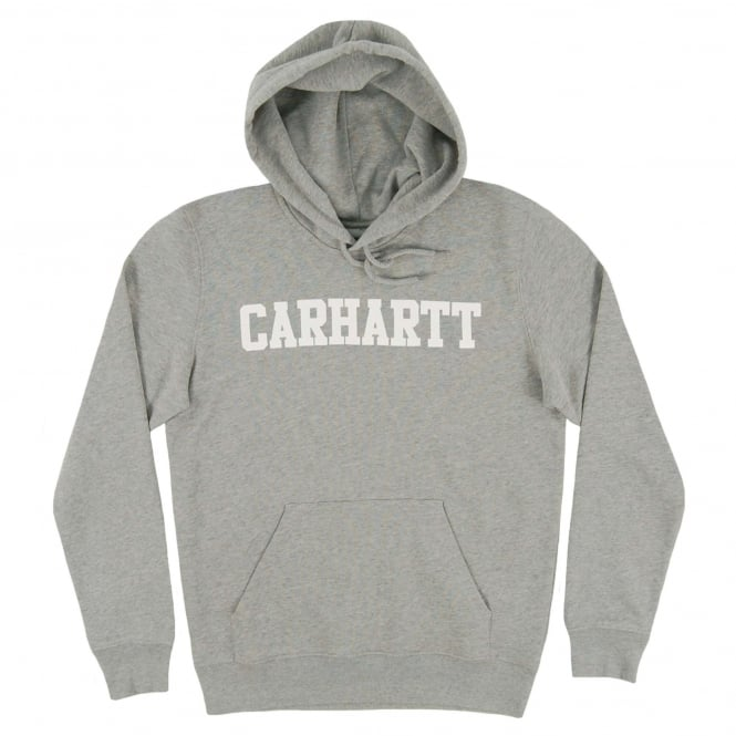 Carhartt Hooded College Sweat Grey Heather White