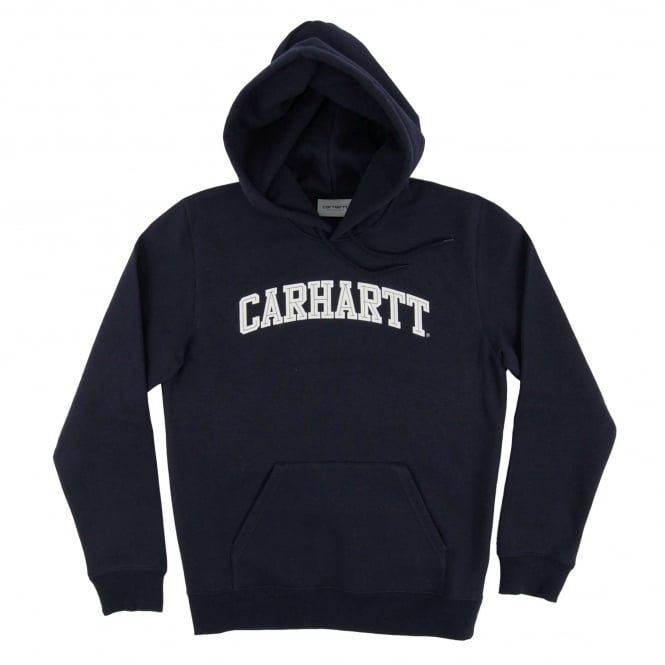 Carhartt Hooded Yale Sweatshirt Navy White
