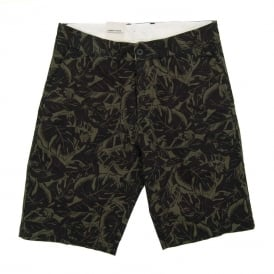 Johnson Shorts Dexter Lotus Print Trekking Green Black