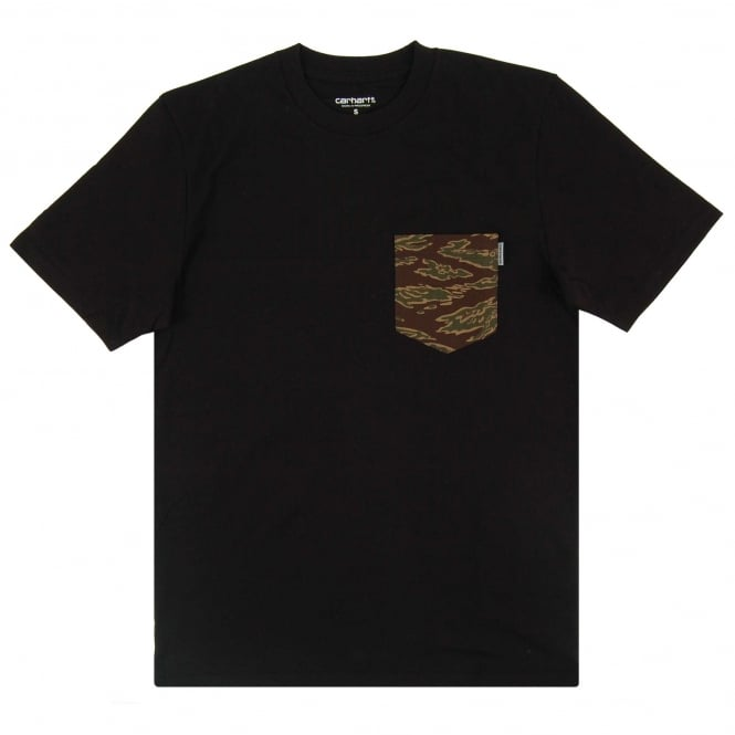 Carhartt Lester Pocket T-Shirt Black Camo Tiger