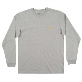 LS Chase T-Shirt Grey Heather Gold