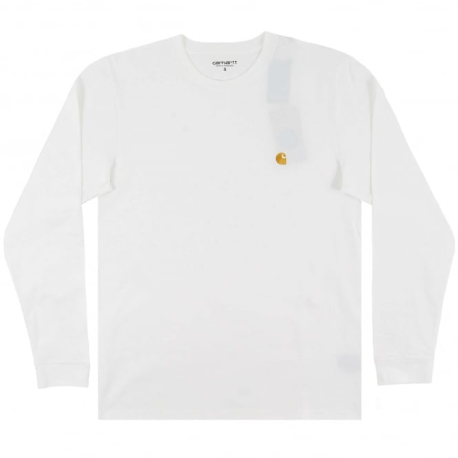 Carhartt LS Chase T-Shirt White Gold