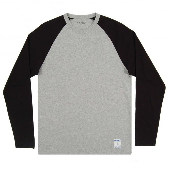 Carhartt LS Dodgers T-Shirt Grey Heather Black