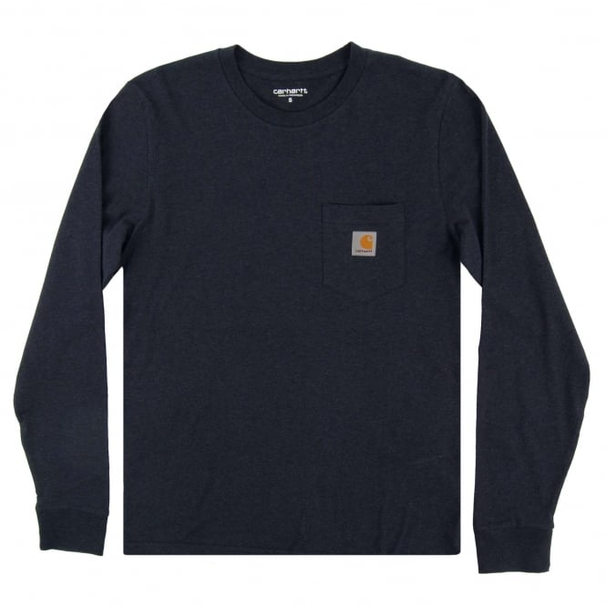 Carhartt LS Pocket T-Shirt Navy Heather