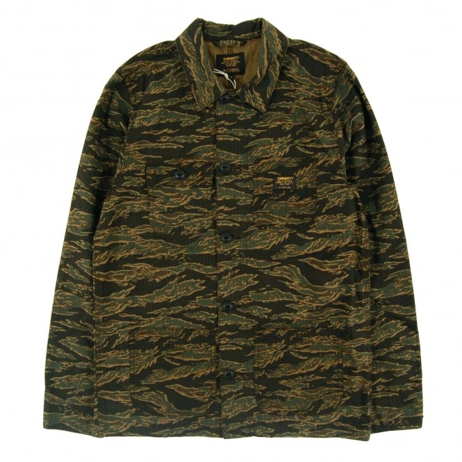Carhartt Michigan Chore Coat Columbia Camo Tiger