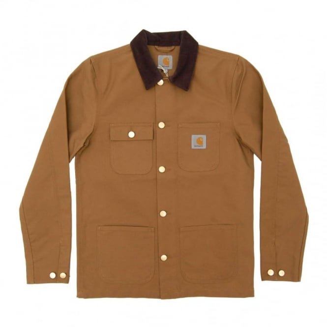 Carhartt Michigan Chore Coat Turner Hamilton Brown