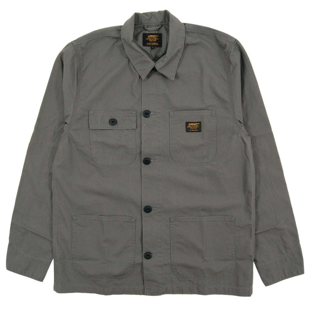 2382083d80 Carhartt Michigan Shirt Jacket Columbia Airforce Grey - Mens ...