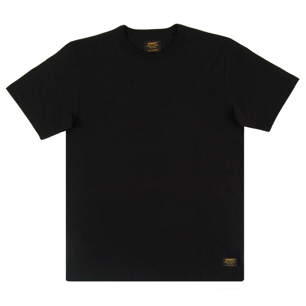 Carhartt Military T-Shirt Black - Mens Clothing from Attic Clothing UK 603bae1d214
