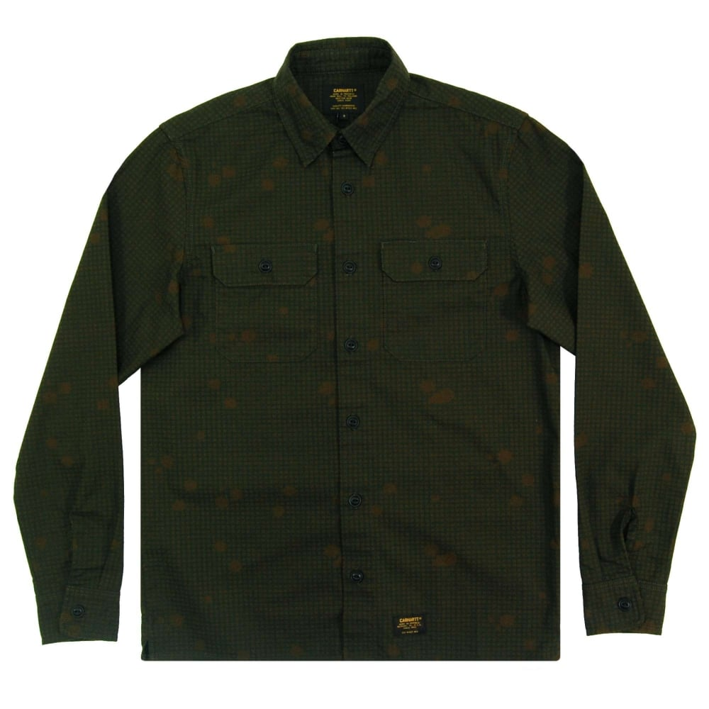 carhartt mission shirt camo night combat green mens