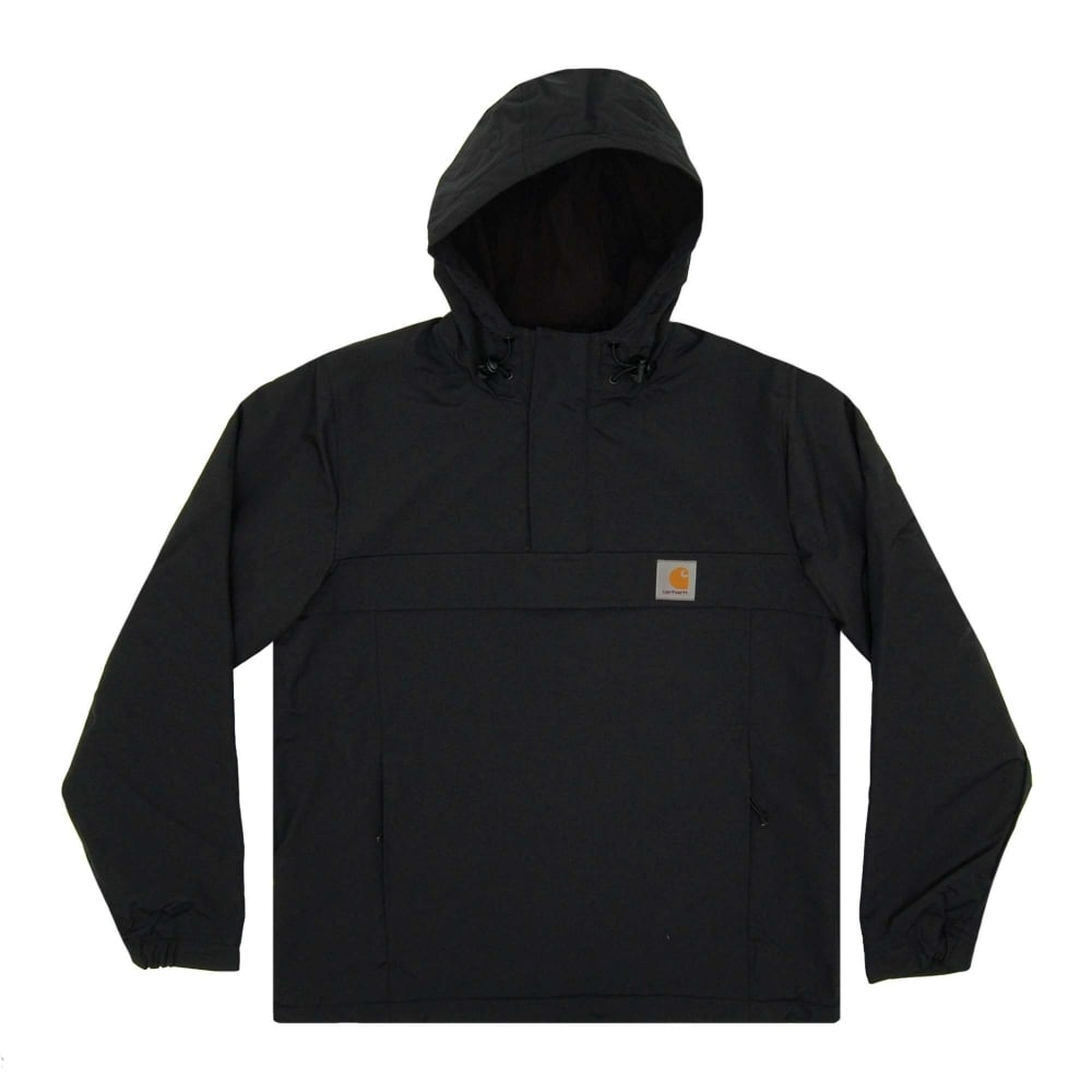 Carhartt Nimbus Fleece Lined Pullover Jacket Black - Mens Clothing ...