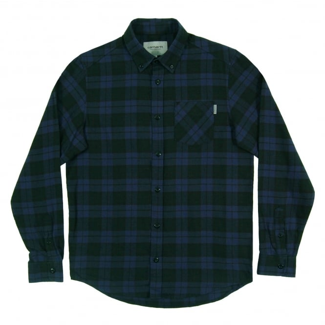 Carhartt Norton Check Shirt Blue Parsley