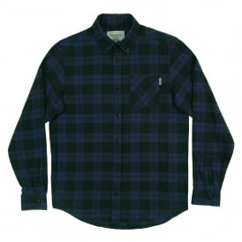 Norton Check Shirt Blue Parsley