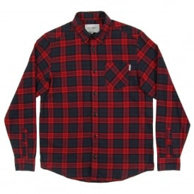 Norton Check Shirt Navy Alabama