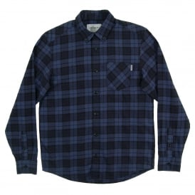 Norton Check Shirt Navy Ink Heather