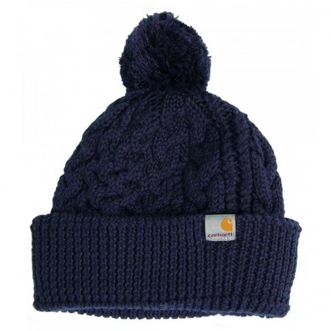 Carhartt Paladin Bobble Hat Navy - Mens Clothing from Attic Clothing UK 42d7235d87b
