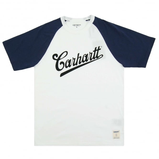 Carhartt Strike T-Shirt White Blue