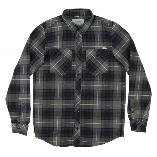 Carhartt Tatum Check Shirt Blue