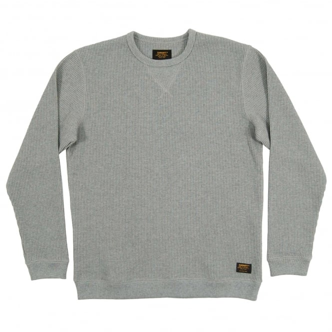 Carhartt Truman Waffle Sweat Grey Heather