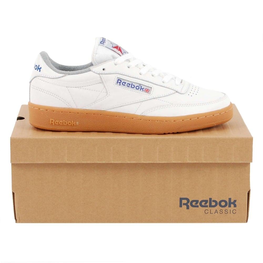 e7950f3ff03 Reebok Club C 85 White Reebok Royal Flat Grey Gum - Mens Clothing ...