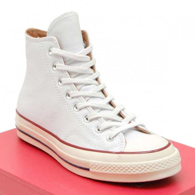 Converse Chuck Taylor 70 s Hi Leather White Egret Nature - Mens ... b342738a1af3