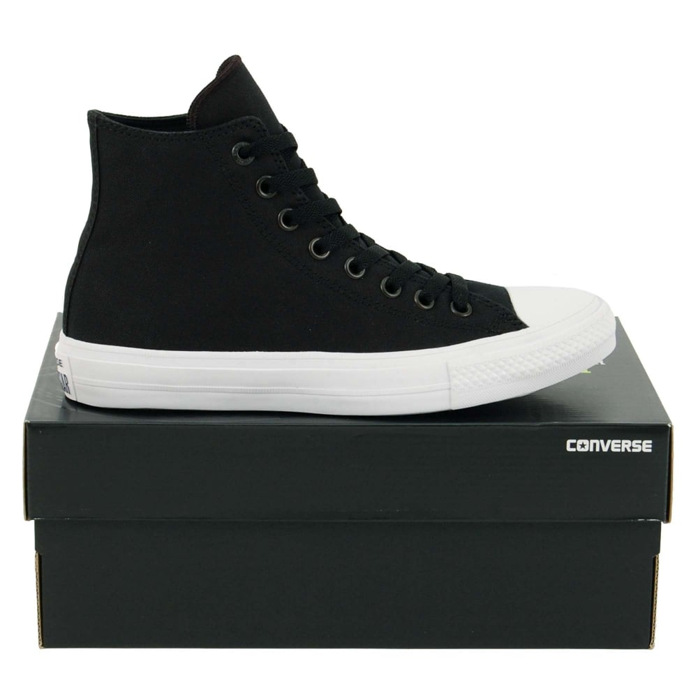 99a472e4bb58 Converse Chuck Taylor All Star II Hi Black White Navy - Mens ...