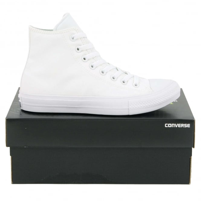 Converse Chuck Taylor All Star II Hi White White Navy