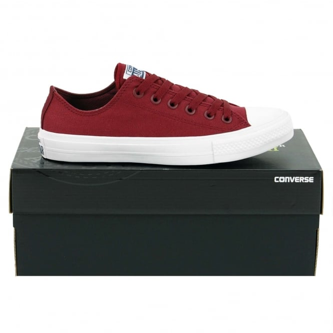Converse Chuck Taylor All Star II Ox Deep Bordeaux White