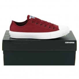 Chuck Taylor All Star II Ox Deep Bordeaux White