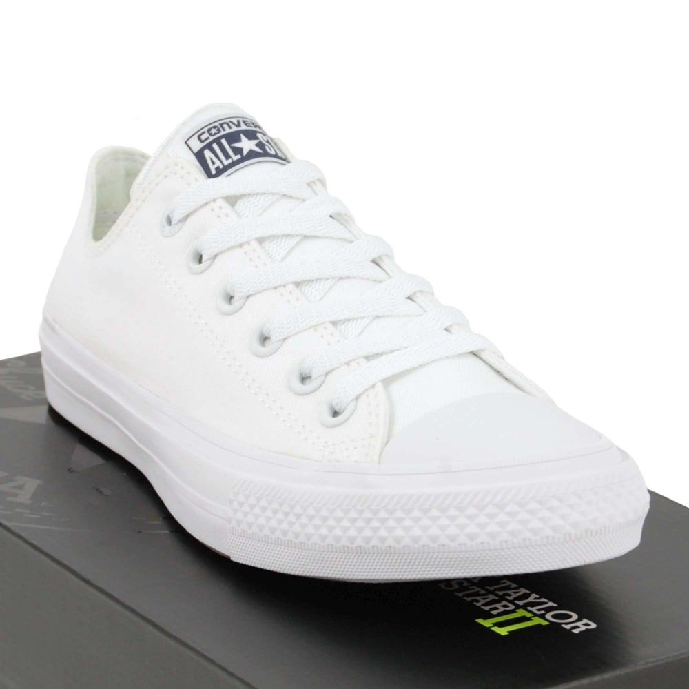 070f76317bda Converse Chuck Taylor All Star II Ox White White Navy - Mens ...