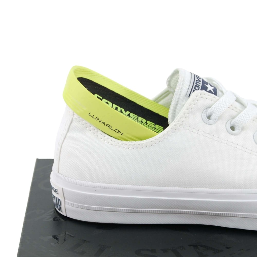 Converse Chuck Taylor All Star II Ox White White Navy