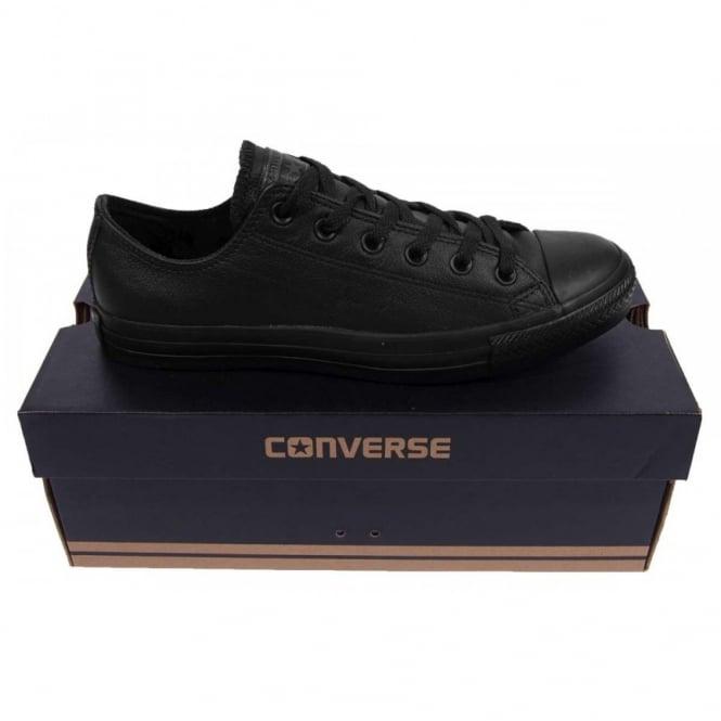 Converse Chuck Taylor All Star Ox Leather Black Monochrome - Mens ... b867ee42e