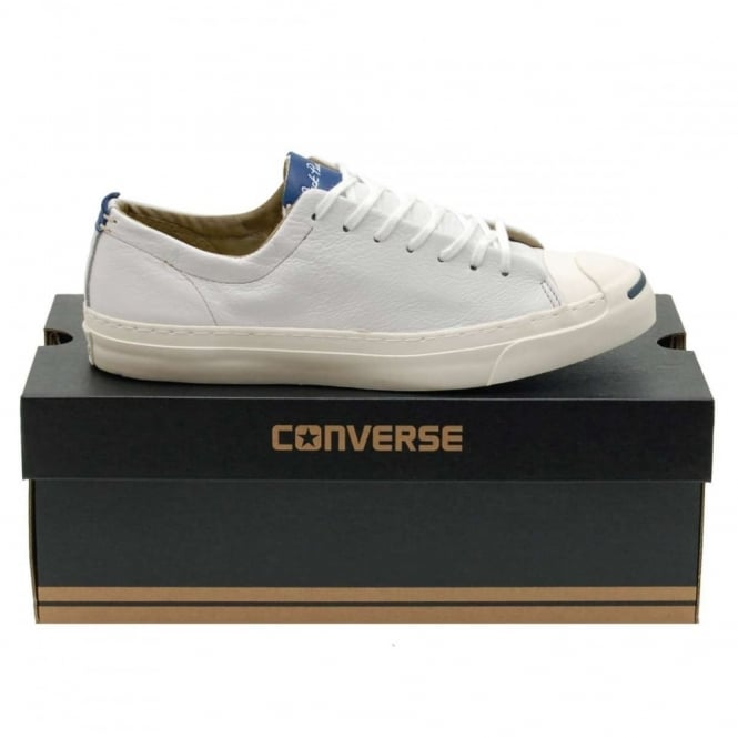 70559344f05a10 Converse Jack Purcell Jack Leather White Egret - Mens Clothing from ...