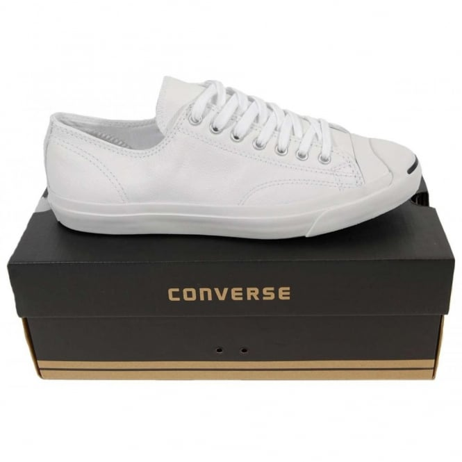 3cafe0c8c281 Converse Jack Purcell LTT Leather Ox White - Mens Clothing from ...
