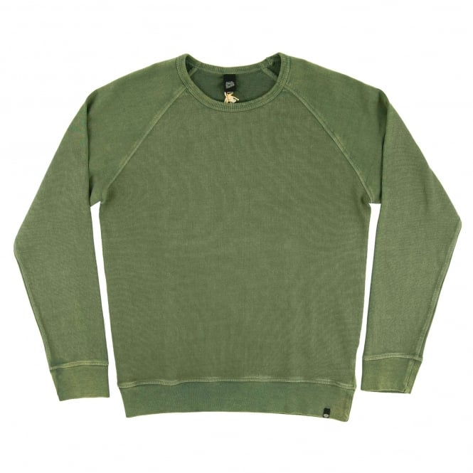 Deus Ex Machina Arthur Crew Sweatshirt Washed Green