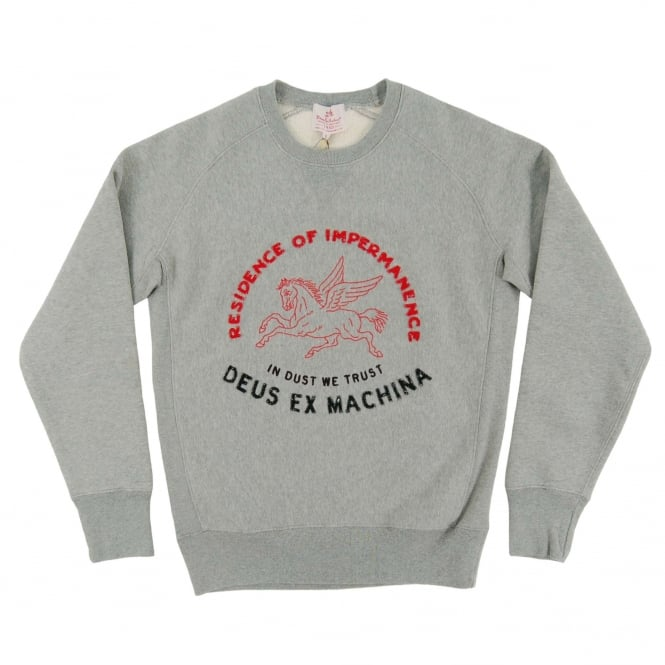 Deus Ex Machina Dust We Trust Crew Sweatshirt Grey Marle